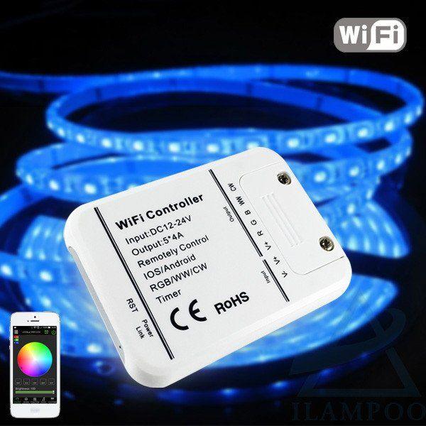 16Million colors Wifi 5channels RGB/WW/CW led  control music