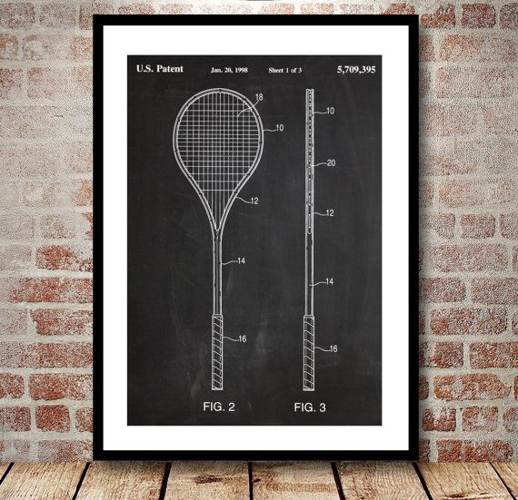 Squash Racket Print, Squash Racket Patent, Squash Racket Poster, Squash Racket Blueprint, Squash Racket Art, Squash Racket Decor by STANLEYprintHOUSE  3.00 USD  We use only top quality archival inks and heavyweight matte fine art papers and high end printers to produce a stunning quality print that's made to last.  Any of these posters will make a great affordable gift, or tie any room together.  Please choose between different sizes and col ..  https://www.etsy.com/ca/listing/4986..