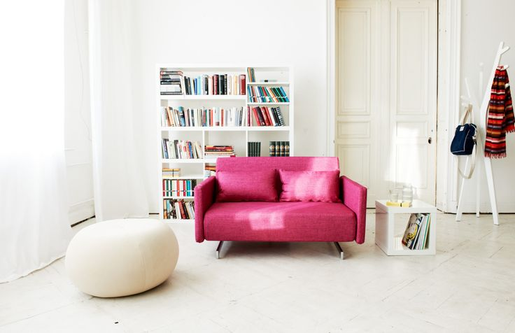 : Living Rooms, Pink Sofas, Living Spaces, Pink Couch, Interiors Design, 01 Interiors Inspiration, White Colors, White Furniture, Design Furniture