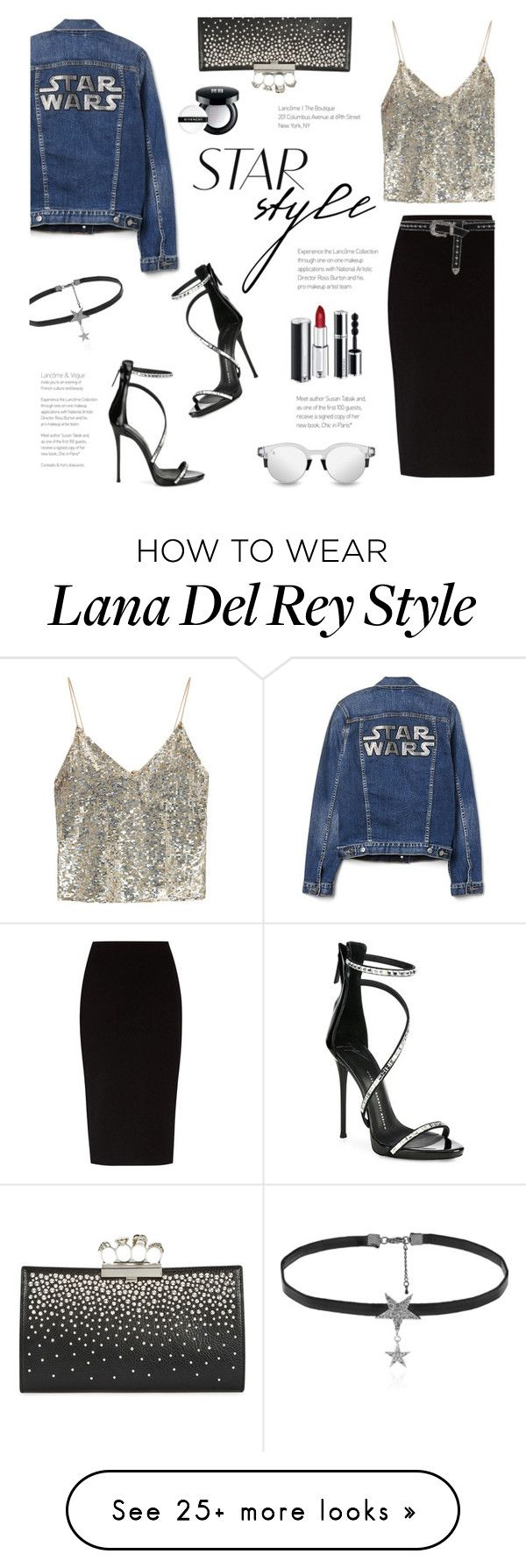 """""""Star Struck"""" by lisalockhart on Polyvore featuring Giuseppe Zanotti, Alice + Olivia, The Row, B-Low the Belt, Alexander McQueen, Love Rocks and Givenchy"""