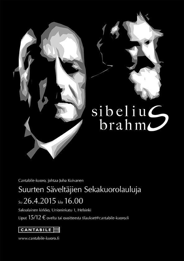 Concert poster for Cantabile choir, spring 2015