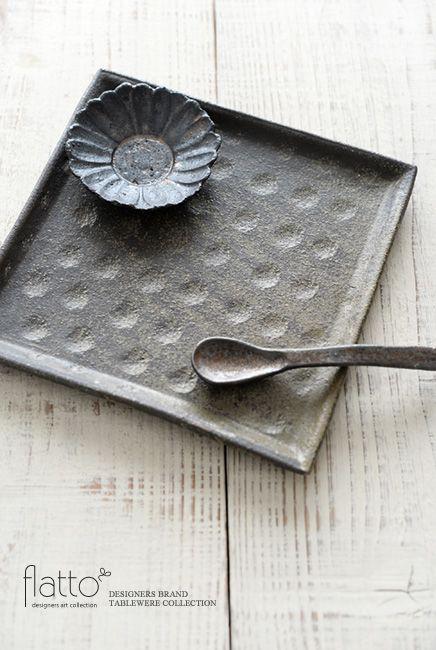 アボカド角皿/作家「村上直子」/和食器通販セレクトショップ「flatto」#村上直子 #和食器