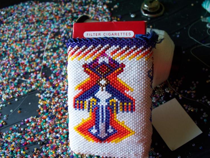 Beaded cigarette case for sale 100$ | Native American ...