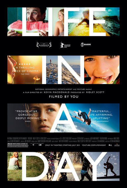 A documentary about a single day on Earth that was shot by thousands of people, in 192 countries, on July 24, 2010.