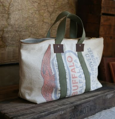 feed sack bag, need to make one for baskets pick up!!!