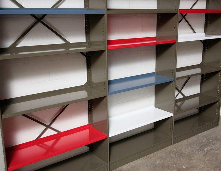 "Friso Kramer ""Stabilux"" Industrial Sheet Metal Bookshelf image 2"
