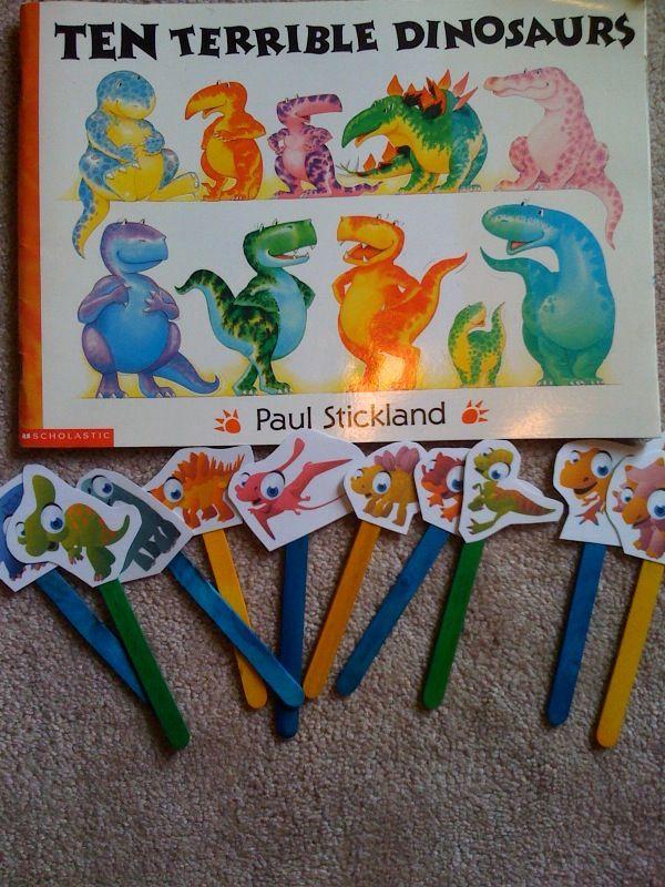 Preschool Printables: Ten Terrible Dinosaurs Printable