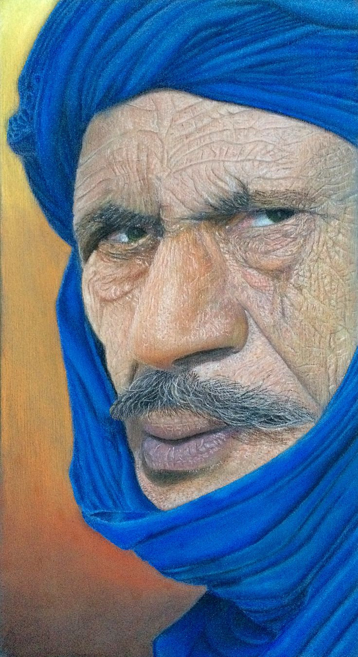"""Omar"" Soft pastels on wood"