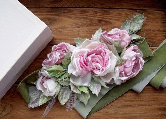 Grace Flowers Belt Floral Sash Country Wedding Bridal Sash