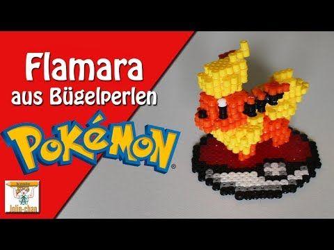 DIY Flamara Pokemon - Flaeron 3D Bügelperlen Tutorial - Perler Bead - YouTube