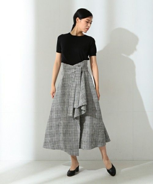 ELIN(エリン)の「ELIN / チェック ラップスカート(スカート)」|詳細画像
