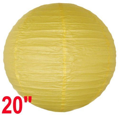 "Yellow Chinese/Japanese Paper Lantern/Lamp 20"" Diameter - Just Artifacts Brand by Just Artifacts. $2.28. Great for party and home decoration. Check Just Artifacts products for more available colors/sizes."