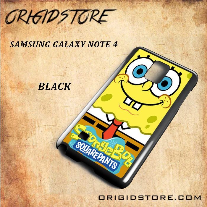 Spongebob Squarepants Smile So Cute For Samsung Galaxy Note 4 Snap On and 3D Case