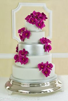 Tarta de boda orquideas Cakes Haute Couture