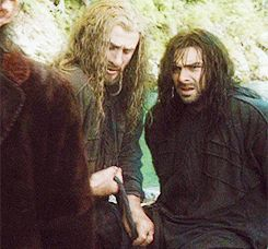 Aww...big brother Fili helping his little brother...