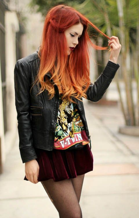 Red Ombre Hair Pinterest