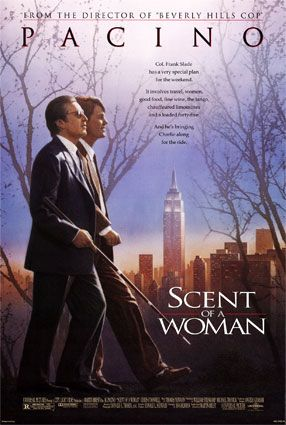 "Scent of a Woman (1992) A prep school student needing money agrees to ""babysit"" a blind man, but the job is not at all what he anticipated. - Perfume de Mulher - Aroma de Mujer - Wasi Idiomas"
