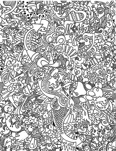 trippy coloring pages to print - Enjoy Coloring