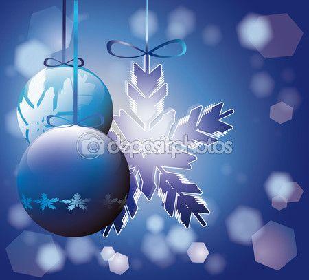 #Blue #Christmas tree decorations — Vettoriali Stock © Donatellissima #58812451 #vector