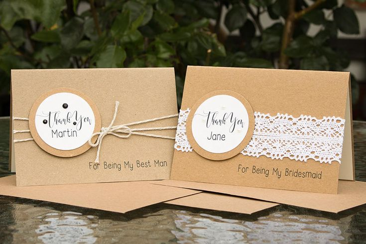 Personalised, Rustic Wedding Thank You Card, For your Bridesmaid, your Matron of Honour, your Maid of Honour, the Best Man, the Pageboy by SBsPrintables on Etsy