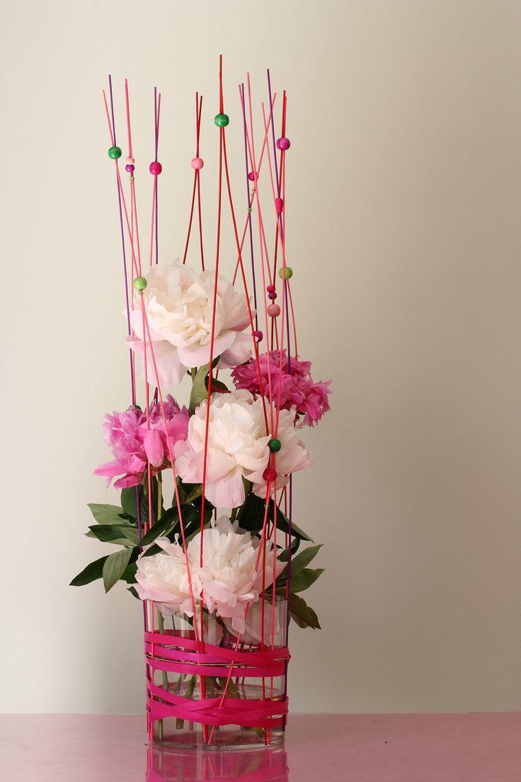 composition florale avec pivoines composition florale et. Black Bedroom Furniture Sets. Home Design Ideas