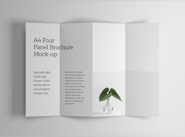 A4 Four Panel Accordion Brochure Photoshop Mockup Delivered In Your Favorite Psd Format Editin Brochure Template Brochure Design Template Brochure Mockup Free