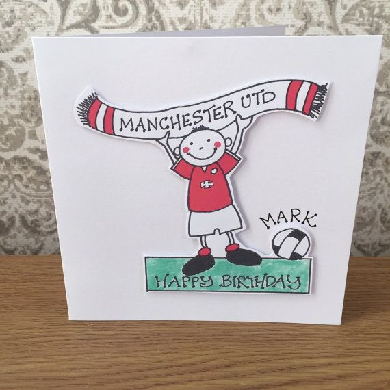 MANCHESTER UNITED Football Birthday Greeting By