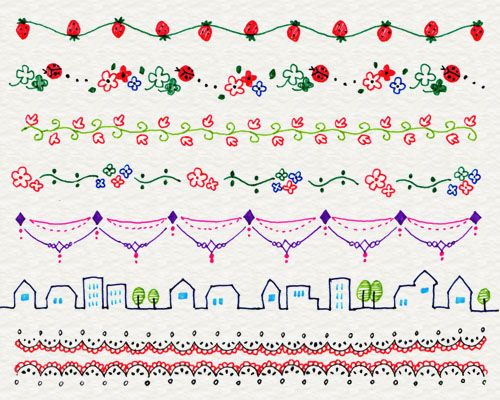 Of decoration line illustrations 3