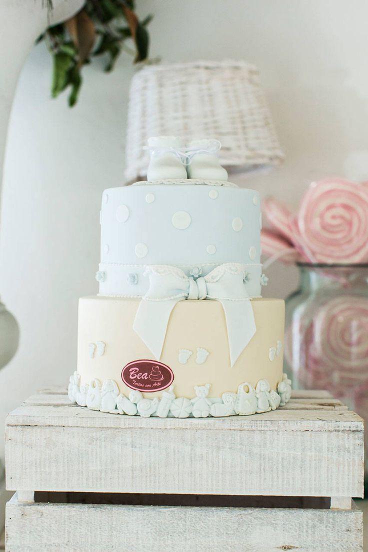 tarta de zapatitos y lazo