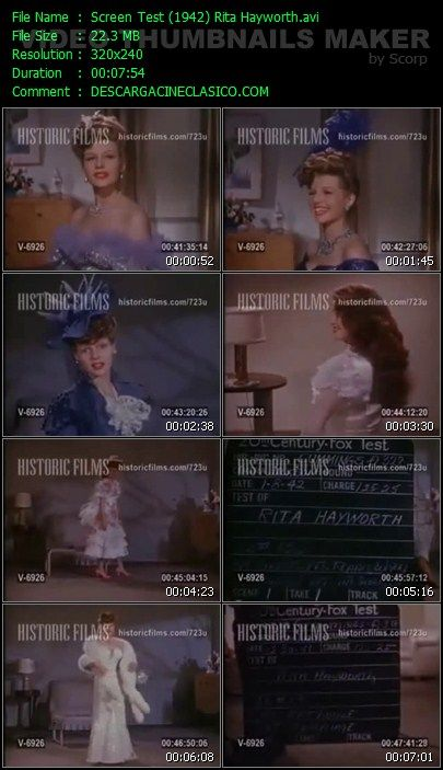 Screen Test de Rita Hayworth 1942