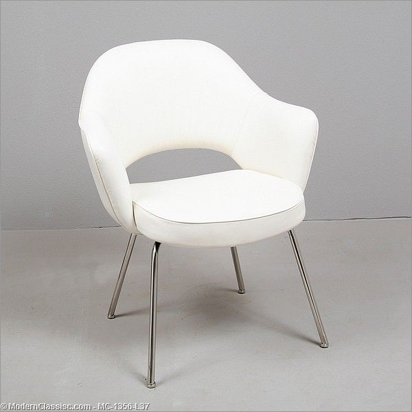 etoile leather chair walnut legs optic white seat modern dining chairs pomp home saarinen dining chair white saarinen executive arm chair