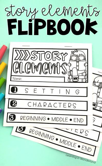 This story elements flipbook is perfect for first and second graders! You can cover setting, characters, plot, title, author, and illustrator all in one flip book! Two sizes are included!