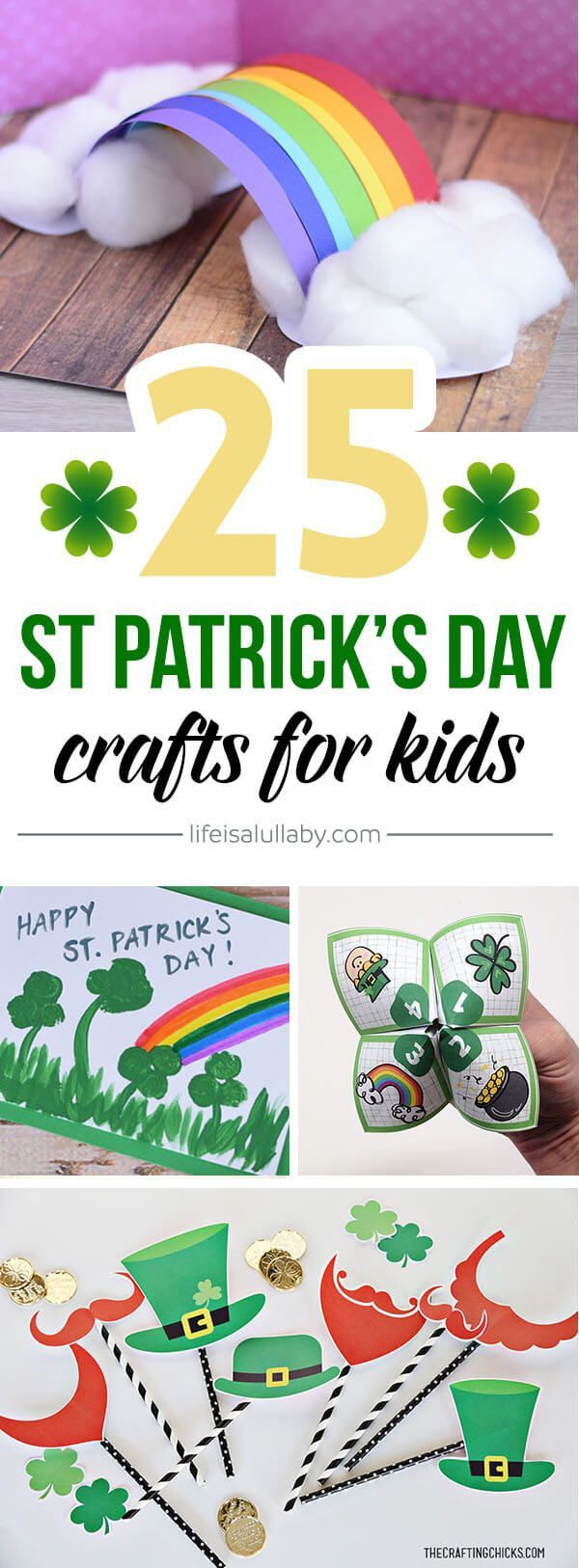 These St Patrick's Day Crafts for Kids are such great ideas! Handprint and Footprint ideas, painting, science activities and more!