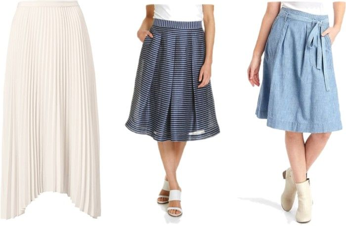How to Style a Basic Tee with a Midi Skirt