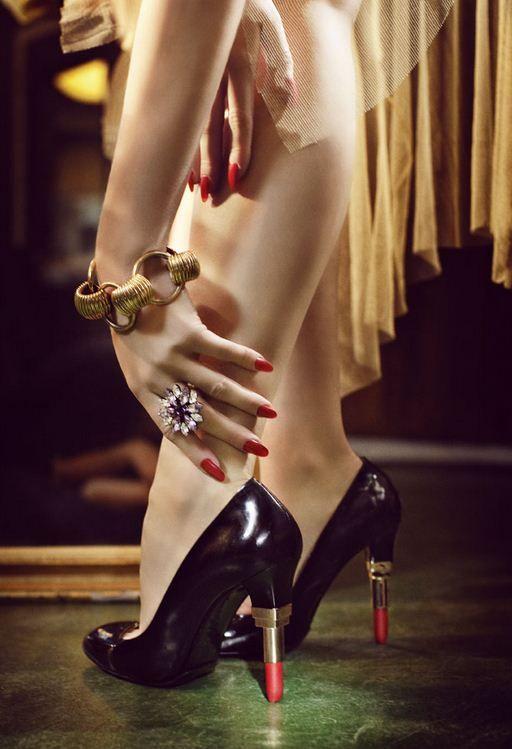 Heels on sticks