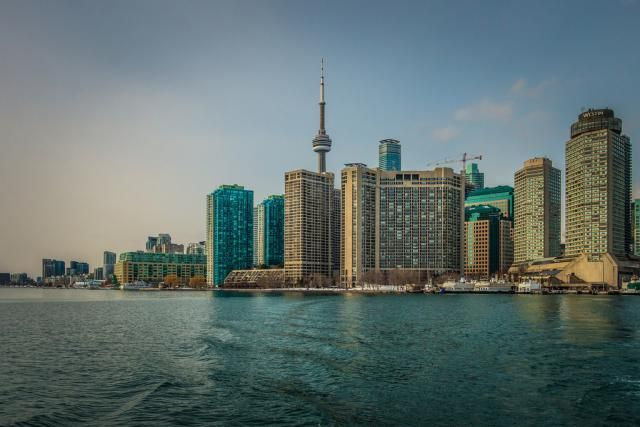 April 5, 2017: View from the Island Ferry, image by A Great Capture #UrbanToronto #Toronto #urban #city #skyline #waterfront