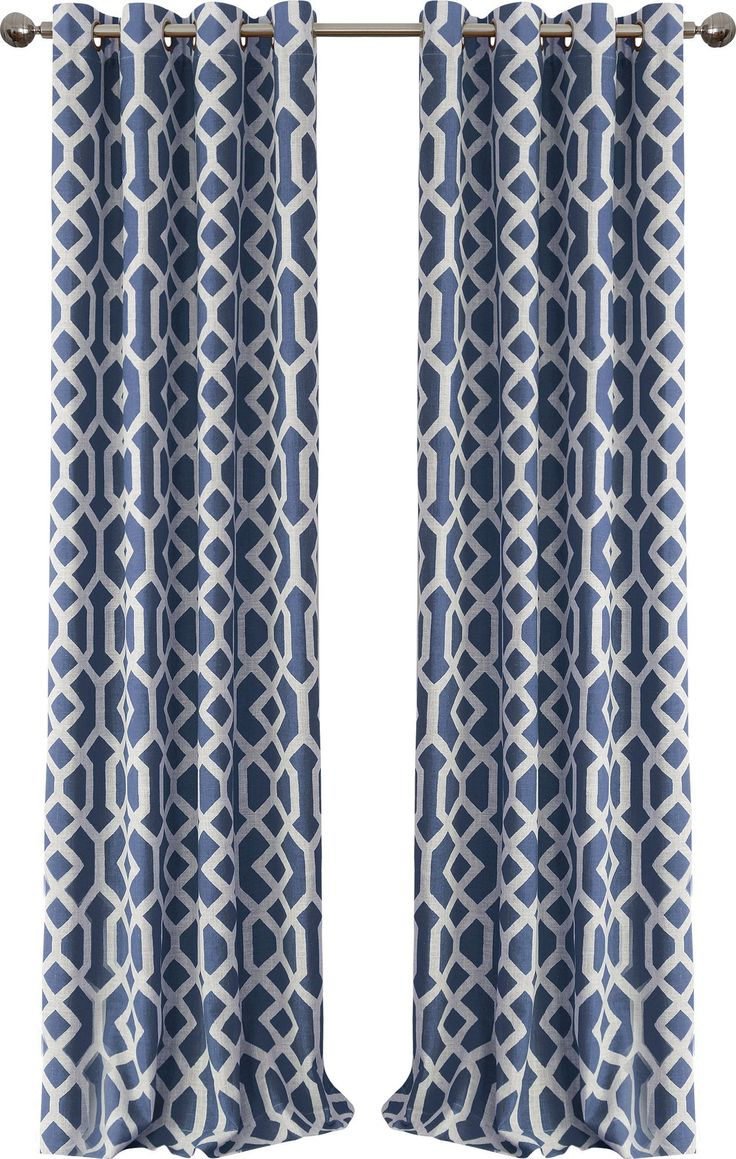 Grayson silver gray jacquard fabric cloth bathroom bath shower curtain - Grayson Blackout Single Curtain Panel