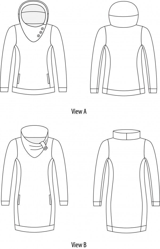 Jasper sweater and dress pattern by Paprika pattern (pdf to print)