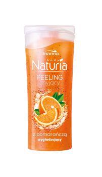 Peeling myjący do ciała z pomarańczą Naturia body. Skóra jest odświeżona i oczyszczona, gładka i miła w dotyku oraz przyjemnie pachnąca.