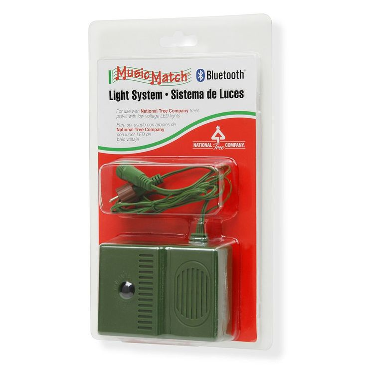National Tree Company Music Match Bluetooth Light System, Green