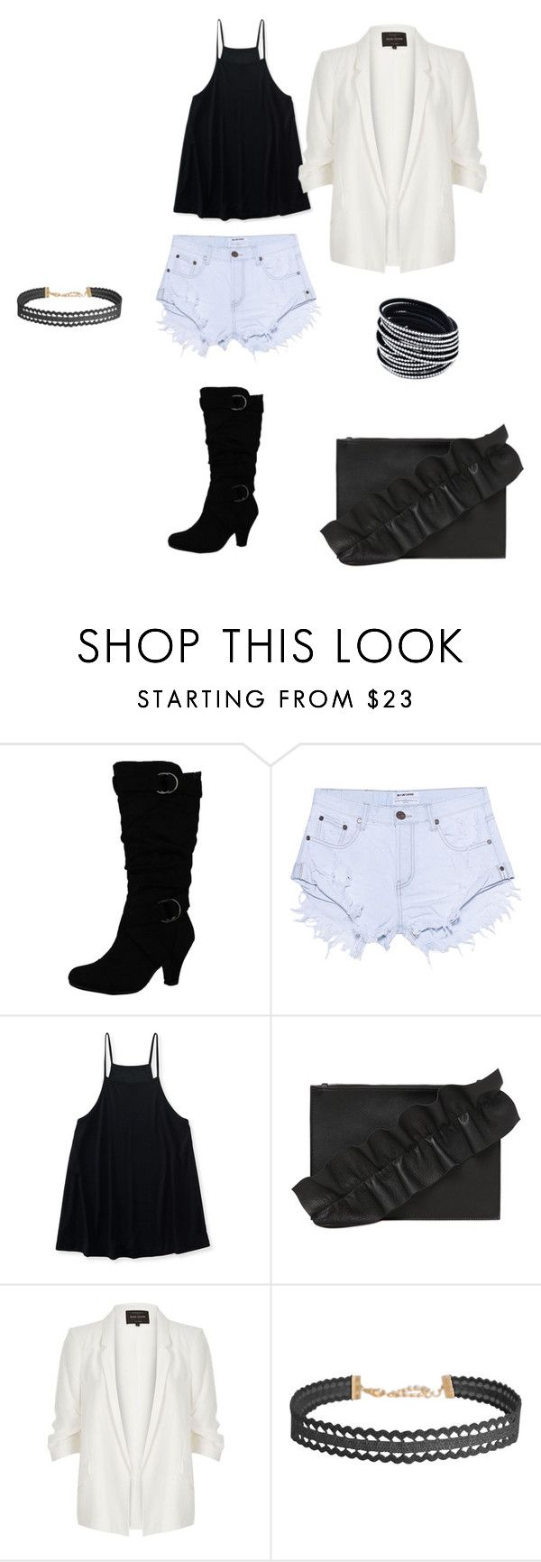"""Bez naslova #9"" by semysemy ❤ liked on Polyvore featuring One Teaspoon, Aéropostale, MSGM, River Island and Humble Chic"