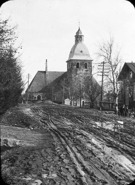 Kangasalan kirkko 1900. Kuvaaja: William Lomax.