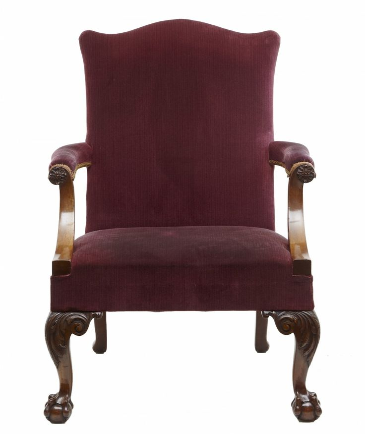 LATE 19TH CENTURY MAHOGANY GAINSBOROUGH ARMCHAIR
