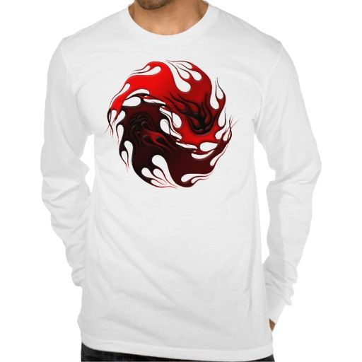 Tribal Yin Yang Long Sleeve Shirt