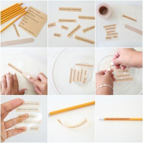 How to personalize pencils for kids - from Joanna Gaines' blog