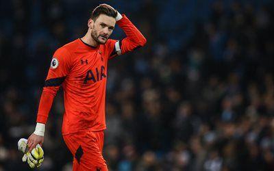 Scarica sfondi Tottenham Hotspur, 4k, Hugo Lloris, partita, il portiere, i calciatori, Premier League