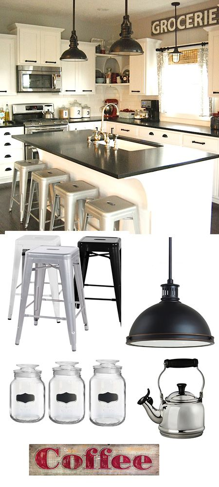 Modern Industrial Kitchen. Nice to see so many of the things in my head all in one picture