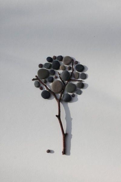 Поделки из речной гальки: минималистичные картинки для украшения стен. Фото | Своими руками