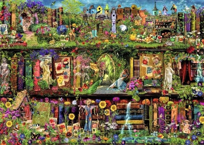 Heaven And Earth Designs Supersized The Secret Garden Max Color Artwork By Aimee Stewart In 2020 Secret Garden Colouring Secret Garden Book Secret Garden