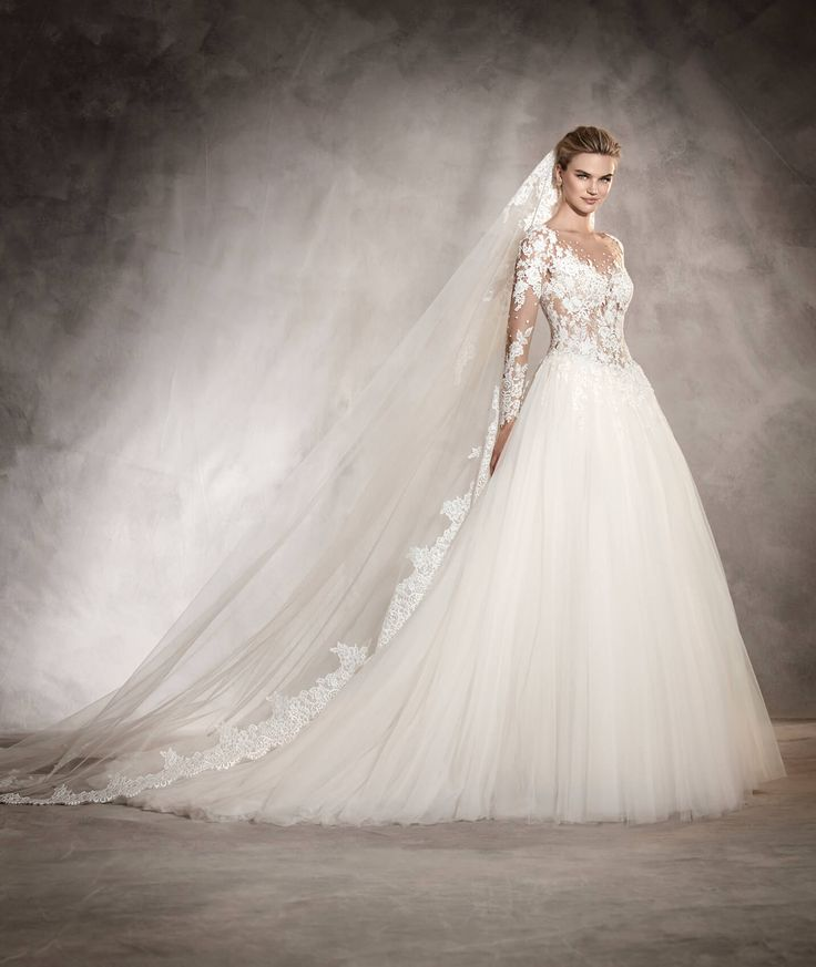 ARLENE - Vestido de novia princesa, corte cintura, escote barco | Pronovias